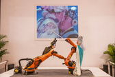 Exhibition on Chinese metallurgy robot show — Stock Photo