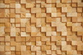 Wood block wall — Stock Photo