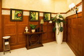 Chongqing North train a community garden reception hall — Stock Photo