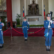 "Taipei, Taiwan, ""Sun Yat-sen Memorial Hall"" changing of the guard ceremony ceremonial soldiers punctual time — Stock Photo #40336289"