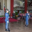 "Taipei, Taiwan, ""Sun Yat-sen Memorial Hall"" changing of the guard ceremony ceremonial soldiers punctual time — Stock Photo #40335973"