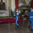 "Taipei, Taiwan, ""Sun Yat-sen Memorial Hall"" changing of the guard ceremony ceremonial soldiers punctual time — Stock Photo #40336079"