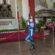 "Taipei, Taiwan, ""Sun Yat-sen Memorial Hall"" changing of the guard ceremony ceremonial soldiers punctual time — Stock Photo #40336121"