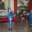 "Taipei, Taiwan, ""Sun Yat-sen Memorial Hall"" changing of the guard ceremony ceremonial soldiers punctual time — Stock Photo #40336215"