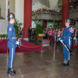 "Taipei, Taiwan, ""Sun Yat-sen Memorial Hall"" changing of the guard ceremony ceremonial soldiers punctual time — Stock Photo #40336241"