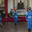 "Taipei, Taiwan, ""Sun Yat-sen Memorial Hall"" changing of the guard ceremony ceremonial soldiers punctual time — Stock Photo #40336625"