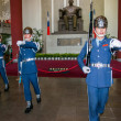 "Taipei, Taiwan, ""Sun Yat-sen Memorial Hall"" changing of the guard ceremony ceremonial soldiers punctual time — Stock Photo #40336735"