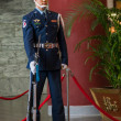 "Taipei, Taiwan, ""Sun Yat-sen Memorial Hall"" changing of the guard ceremony ceremonial soldiers punctual time — Stock Photo #40336921"
