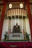 """sun yat-sen memorial hall,"" estátua de sun yat-sen em taipei, taiwan — Fotografia Stock"