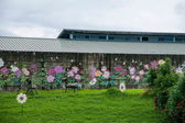 House Puli Township, Nantou County, Taiwan Thao cultural exhibition center next to — Stock Photo