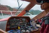 Sun Moon Lake in Nantou County, Taiwan yacht cab — Stock Photo