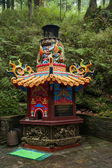 Alishan, Chiayi City, Taiwan temple virgin forest — ストック写真