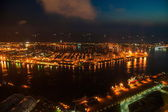 Night Kaohsiung and Kaohsiung District 85 building overlooking the Kaohsiung, Taiwan — Stock Photo