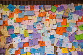 """""""Yehliu Geopark"""" Visitor Center visitors Wanli District, New Taipei City, Taiwan Message Wall — Stock Photo"""