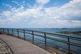 "Wanli District, New Taipei City, Taiwan ""Yehliu Geopark"" bridges — Stock Photo"