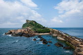 "Wanli District, New Taipei City, Taiwan ""Yehliu Geopark"" mushroom-shaped rock, Jiang Shiqi special landscape reef area — Stock Photo"