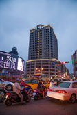 Nanjing West Road, Datong District, Taipei, Taiwan night — Stock Photo