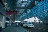 Taiwan Taoyuan International Airport Terminal Road temporary parking channel — Stock Photo