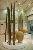"""Taiwan Taoyuan International Airport Terminal show """"Taiwan Bamboo Art"""" crafts — Stock Photo"""