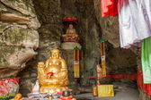 Banan District, Chongqing City, East River Springs five cloth Buddha Buddha Cave — Stock Photo