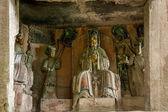 Dazu Rock Carvings in Chongqing Cliff Dongyuetaidi comfortable niche diagenetic — Stock Photo