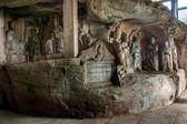 Dazu Rock Carvings in Chongqing Cliff Shu diagenetic — Stock Photo