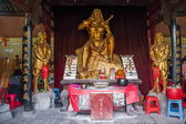 Hubei Enshi Tujia Temple City, Lin Jun ancestor of Pakistani Works with statues — Stock Photo