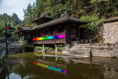 Hubei Enshi City water on stilts — Stock Photo