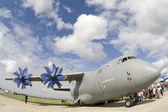 : Antonov An-70 medium-range transport aircraft — Stock Photo