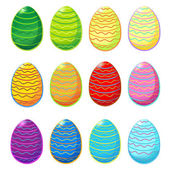 Set of Easter eggs — Vector de stock