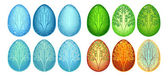 Set of Easter eggs Seasons — Vetorial Stock