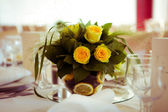 Decoration of wedding table — Stock Photo
