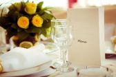 Elegant decoration of table — Stock Photo