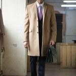 Serious business man walking — Stock Photo #39757705