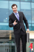 Handsome and expresive businessman — Stock Photo