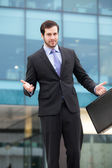 Young handsome businessman — Stock Photo