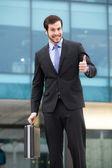 Businessman showing ok sign — Stock Photo