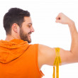 Young man with muscle — Stock Photo