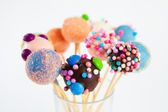 Cake cups on stick — Stock Photo
