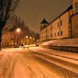 Photo: Night view of street in winter