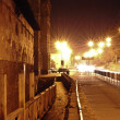 Night street with bright light — Stok Fotoğraf #25307795