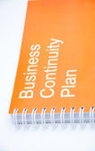 Orange business notebook — Stock Photo