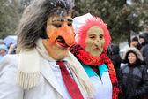 CHERNIVTSI,UKRAINE, dressed people on Malanka — 图库照片