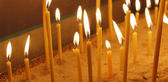 Candles background — Stock Photo