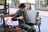 Ukraine, Chernivtsi: Busker — Stock Photo
