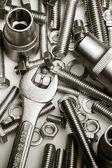 Klucz na nakrętki i śruby — Zdjęcie stockowe