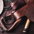 Постер, плакат: Clothes and accessories for horse riding