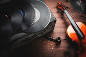 Musical instruments and old objects — Stock Photo