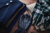 Clothing for winter — Stock Photo