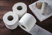 Paper toilet rolls — Stock Photo